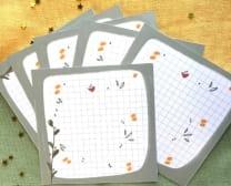 Set of 6 Floral Memo Pads