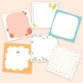 Set Of 6 Illustrated Memo Pads