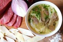 """Суп """"Мясо по-казахски"""""""