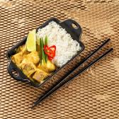 Рис з куркою в соусі Жовтий Карі (270г)