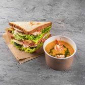GB міні комбо(Чікен тост, крем-суп з лососем та креветкою)