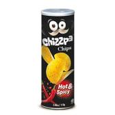 """კარტოფილის ჩიპსი """"Chizzpa"""" ცხარე წიწაკის არომატით 110გრ."""