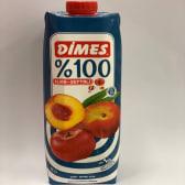 """წვენი """"DIMES"""" 100% პრემიუმი ვაშლის და ატმის 1ლ."""