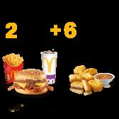 2 McMenu Large Crispy Variations + 6 Chicken McNuggets