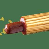 Французький хот-дог із баварською сосискою з сиром