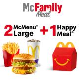2 McMenu Large + 1 Happy Meal