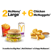 2 McMenu Large + 6 Chicken McNuggets