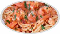Schrimp tomato sauce pasta