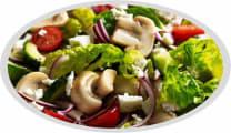Green salad with mushroom