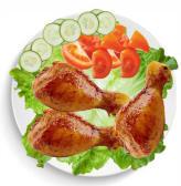 Grilled chicken drumstick
