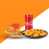 ქათმის ბურგერი, რენჩ სოუსით კომბო/Chicken  Ranch  Burger Combo