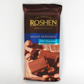 Шоколад Рошен молочний з цілим лісовим горіхом