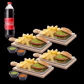 Combo 4 Hamburguesa de pollo + bebida 1,35lt
