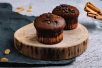 მაფინი ხაჭოთი და შოკოლადით