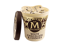 Tarrina Magnum - White chocolate & cookies (440ml)