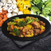 Маринована курка з овочами