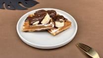 ბელგიური ვაფლი - ბანანი და შოკოლადი