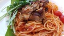 Spaghetti Au Poulet Frit Fromage