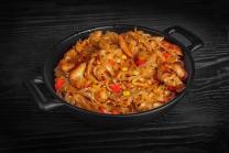 Рисова лапша в соусі пад-тай з куркою (350г)