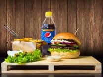 Grecki Wypas + średnie frytki + Pepsi 0.5 L