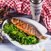 დორადო ხმელთაშუა ზღვის მწვანე სალათით