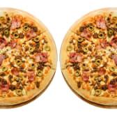 2 Pizzas medianas con hasta 3 ingredientes