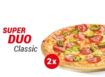 SUPER DUO Classic: 2 x Pizza średnia - 24,99 zł/szt.
