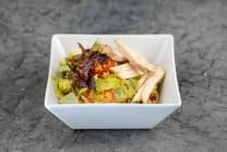 Мікс салатів з кускусом та медово-гірчичним соусом (180г)