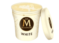 Tarrina Magnum - White (440ml.)