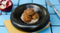Lobio Balls with smoked ham and jonjoli