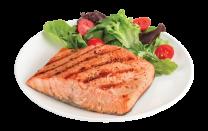 Grilled Salmon Steak, 2000g.