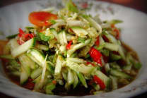 Som Tam with Cucumbers
