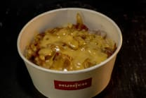 Chicken Lunch Box with Cheese sauce and Fries
