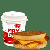 MiniDejun Cheesy Bacon toast si cafea