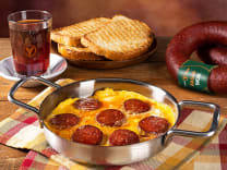 Eggs with sausage