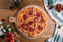 პიცა პეპერონი, პროშუტო