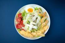 სალათი ცეზარი კრევეტით