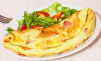 Plat d'Omelette à la Viande