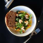Моркв'яний хумус із креветками (230г)