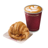 Cappuccino + Croissant de Mantequilla