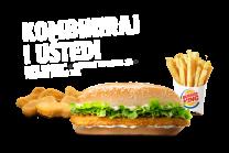 Long Chicken® + Chicken Nuggets 6 kom + Pommes frites XXL