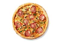 Піца Грибна з шинкою