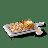 Filete de pollo + arroz moro