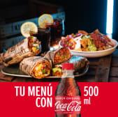 Menú 2 Burritos La Infiel + Nachos Guakamola y 2 bebidas