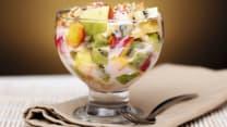 ხილის სალათი იოგურტით
