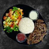 М'ясо на вибір, рис та салат