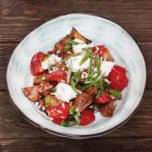 ხრაშუნა ბადრიჯნის სალათი მდნარი ყველით