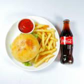 Комбо бургер с курицей