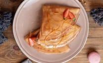 ხაჭოთი და ფორთოხლის დახეხილი კანით/With cottage cheese and orange peel