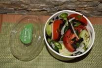 კიტრი და პომიდვრის სალათი